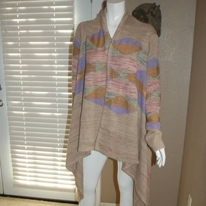Ralph Lauren Tribal Knit Sweater Wrap Around